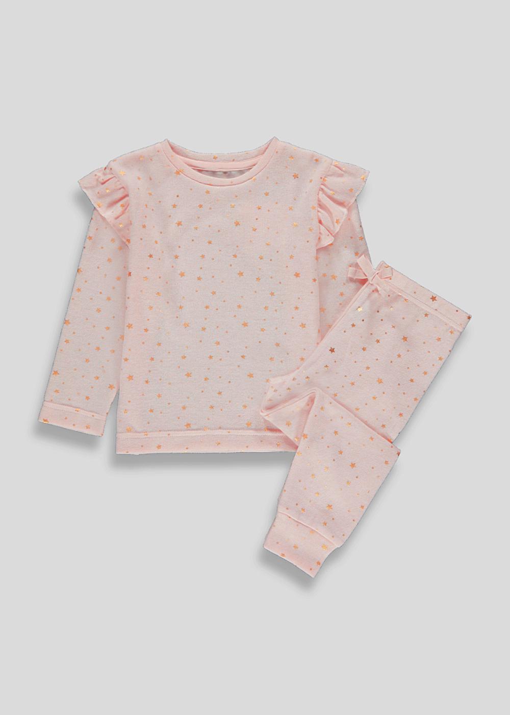 Girls Fleece Pyjama Set in sizes 3yrs 4yrs and 5yrs