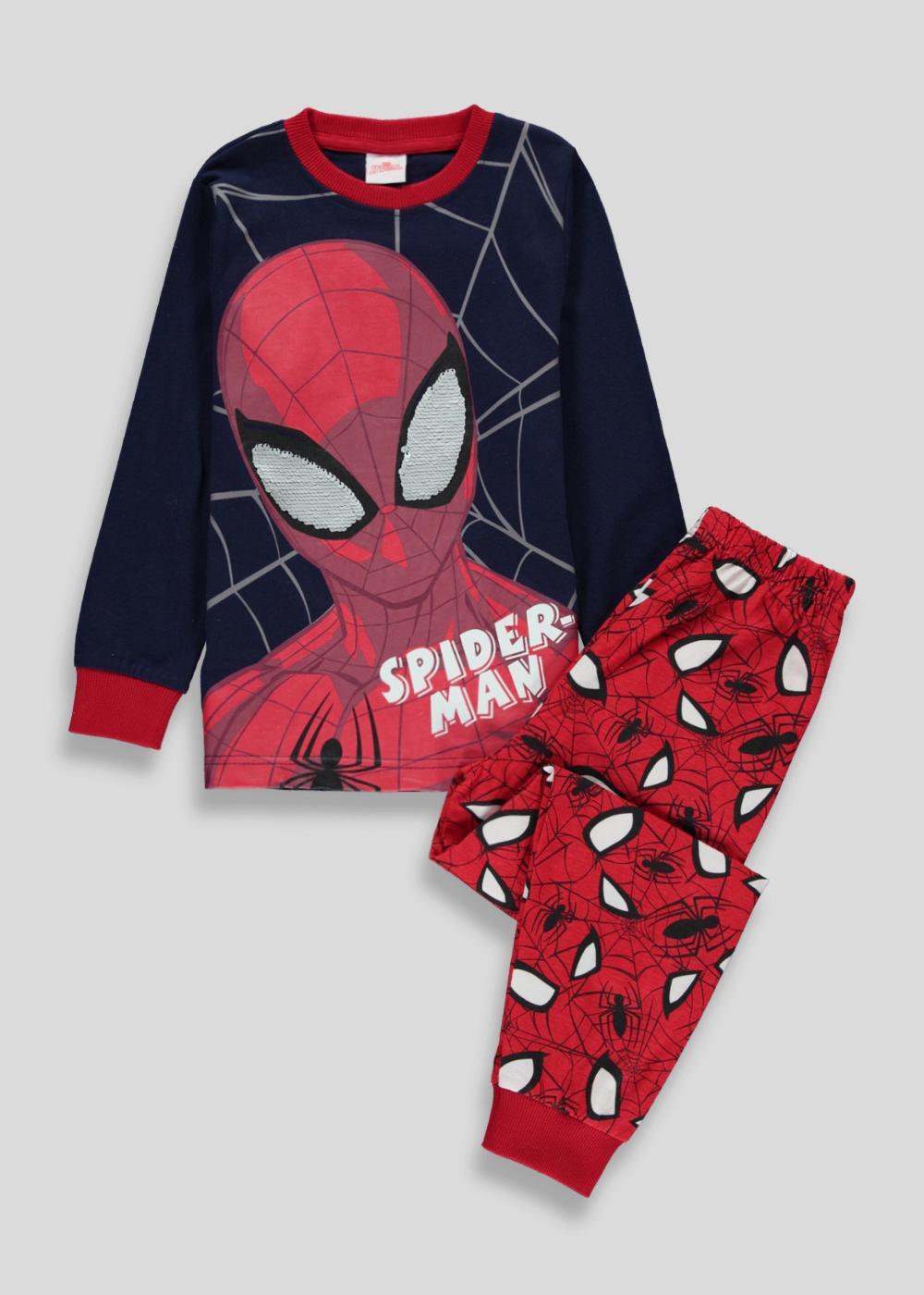 Boys Spider man Pyjamas Nightwear Long Sleeve Sizes 18-24 mths